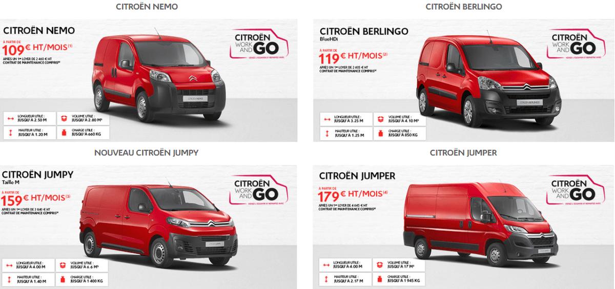 Promotions 2017 Citroën utilitaires