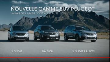 Pub nouvelle gamme SUV Peugeot